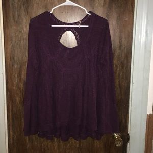 Free People purple lace tunic top
